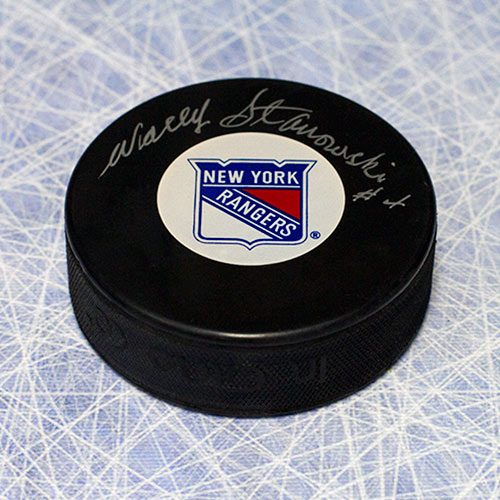 Wally Stanowski New York Rangers Autographed Hockey Puck