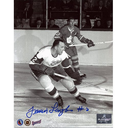 Albert Junior Langlois Detroit Red Wings Autographed 8x10 Photo