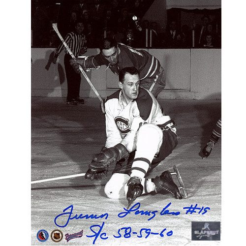 Albert Junior Langlois Montreal Canadiens Autographed 8x10 Photo