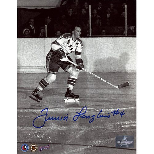 Albert Junior Langlois New York Rangers Autographed 8x10 Photo