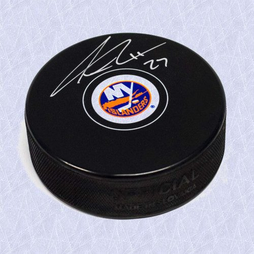 Anders Lee Autographed Puck New York Islanders