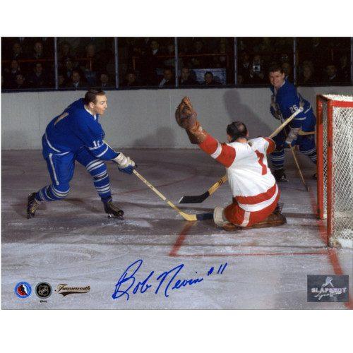 Bob Nevin Toronto Maple Leafs Autographed Action 8x10 Photo