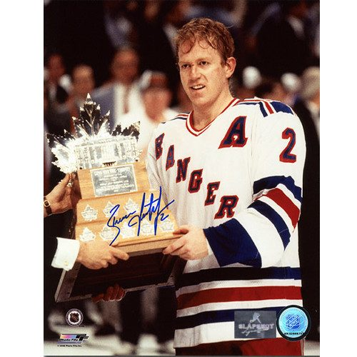 Brian Leetch Conn Smythe 1994 Autographed 8x10 Photo-New York Rangers