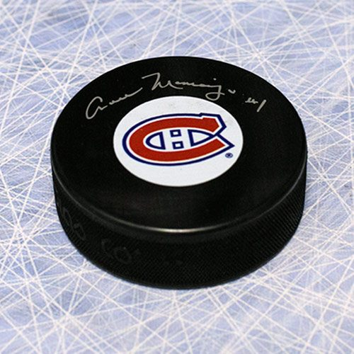 Cesare Maniago Montreal Canadiens Autographed Hockey Puck