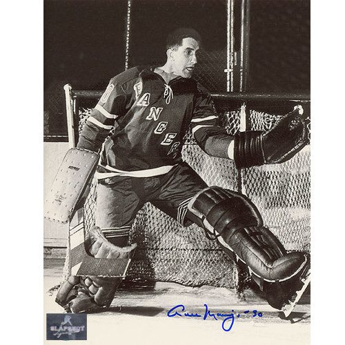 Cesare Maniago New York Rangers Autographed Goalie 8x10 Photo