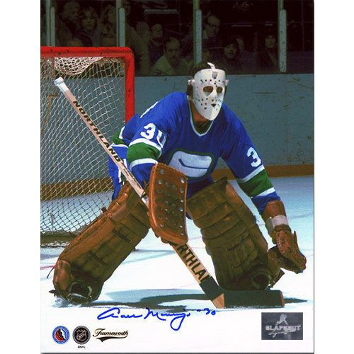 Cesare Maniago Vancouver Canucks Autographed Goalie 8x10 Photo