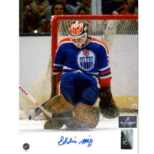 Eddie Mio Edmonton Oilers Autographed Goalie 8x10 Photo