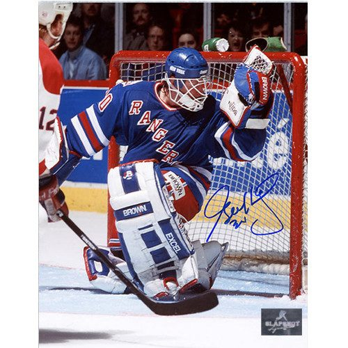 Glenn Healy New York Rangers Autographed Glove Save 8x10 Photo