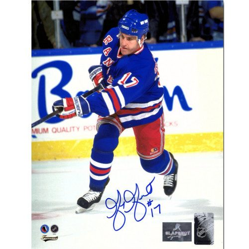 Greg Gilbert New York Rangers Autographed Hockey 8x10 Photo