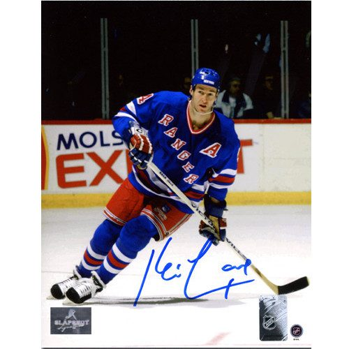 Kevin Lowe Rangers Autographed Action 8x10 Photo