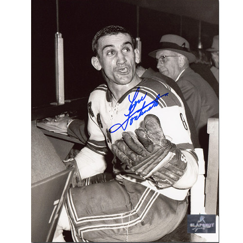 Lou Fontinato New York Rangers Autographed Penalty Box 8x10 Photo