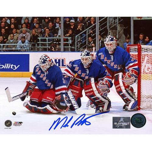 Mike Richter New York Rangers Signed Photo-Multi-Exposure 8x10 Photo