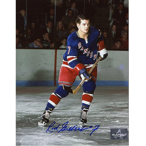 Rod Gilbert New York Rangers Autographed Original Six Action 8x10 Photo