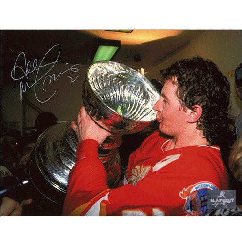 Al MacInnis Stanley Cup 1989 Calgary Flames Signed 8x10 Photo