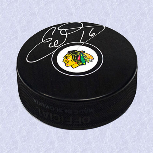 Ed Olczyk Chicago Blackhawks Autographed Hockey Puck