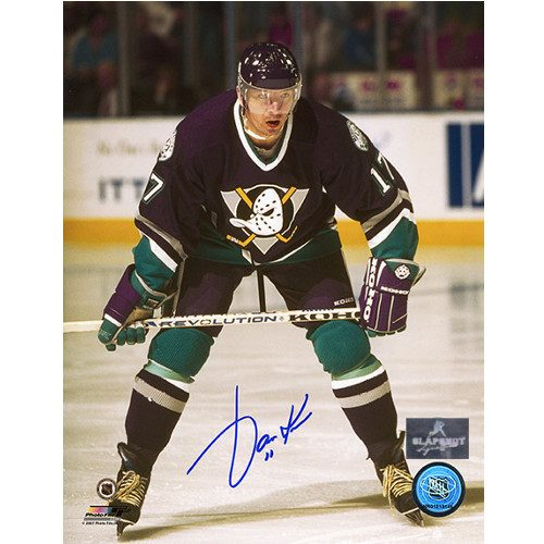 Jari Kurri Anaheim Mighty Ducks Autographed Hockey 8x10 Photo