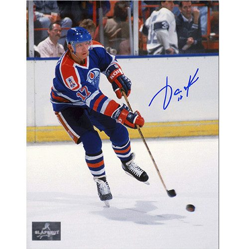 Jari Kurri Autographed Puck Sniper 8x10 Photo-Edmonton Oilers