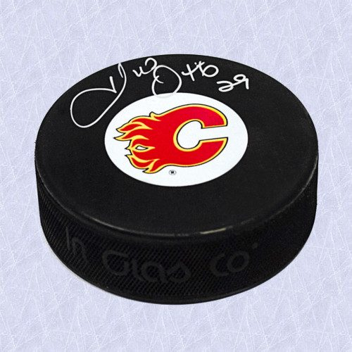 Joel Otto Calgary Flames Official Autographed Hockey Puck