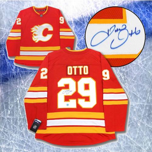 Joel Otto Calgary Flames Signed Retro Fanatics Hockey Jersey