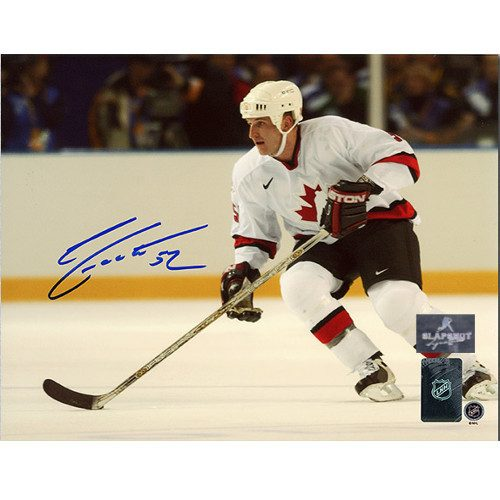 Adam Foote Team Canada 2002 Olympic Autographed 8x10 Photo