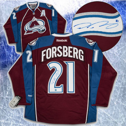 Peter Forsberg Colorado Avalanche Signed Reebok Premier Hockey Jersey