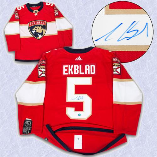 Aaron Ekblad Adidas Jersey Autographed Authentic-Florida Panthers