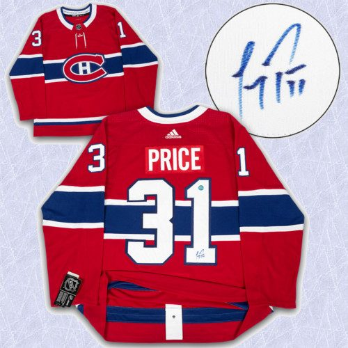Carey Price Adidas Jersey Autographed Authentic-Montreal Canadiens