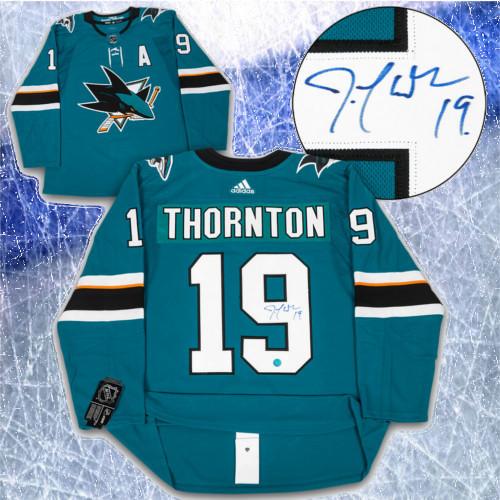 Joe Thornton Adidas Jersey Autographed Authentic-San Jose Sharks