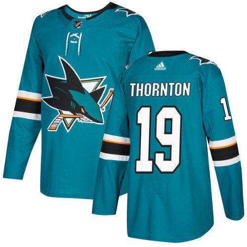 Joe Thornton San Jose Sharks Adidas Authentic Home NHL Hockey Jersey