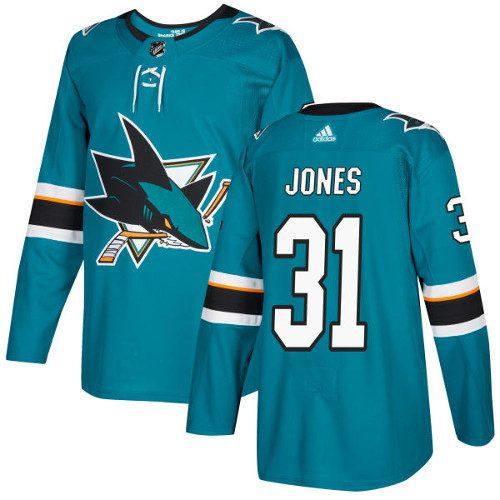 Martin Jones San Jose Sharks Adidas Authentic Home NHL Hockey Jersey