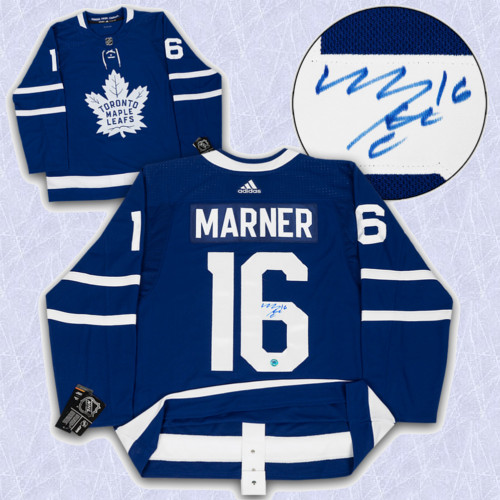 Mitch Marner Adidas Jersey Autographed Authentic-Toronto Maple Leafs