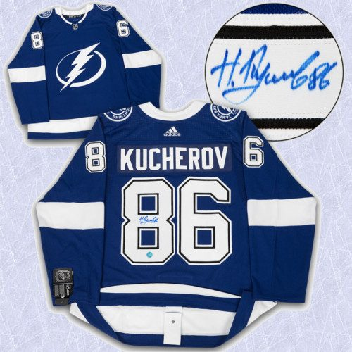 Nikita Kucherov Adidas Jersey Autographed Authentic-Tampa Bay Lightning