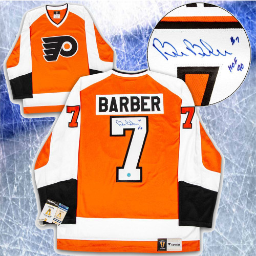Bill Barber Philadelphia Flyers Signed Fanatics Vintage Hockey Jersey