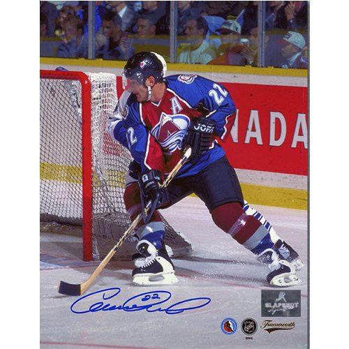 Claude Lemieux Colorado Avalanche Autographed Action 8x10 Photo