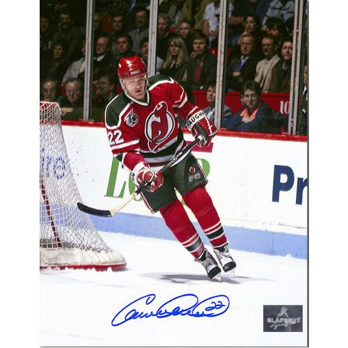 Claude Lemieux New Jersey Devils Autographed Retro Jersey Action 8x10 Photo