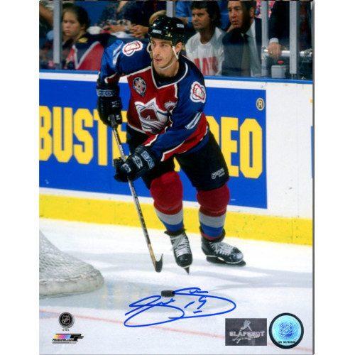 Joe Sakic Autographed Colorado Avalanche 1996 Stanley Cup Finals 8x10 Photo