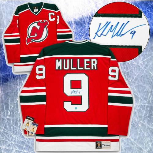Kirk Muller New Jersey Devils Signed Fanatics Vintage Hockey Jersey