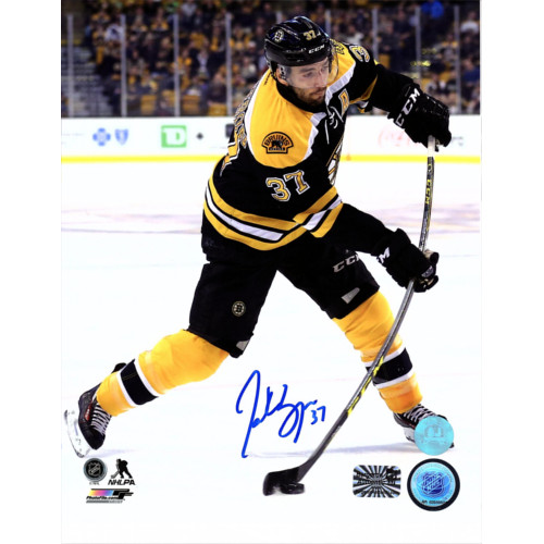 Patrice Bergeron Boston Bruins Autographed 8x10 Hockey Sniper Photo