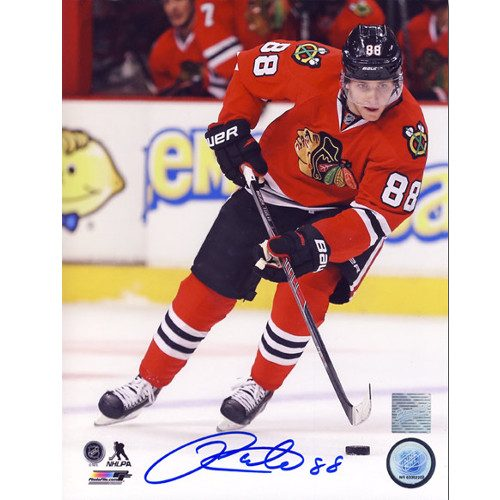 Patrick Kane Chicago Blackhawks Autographed Hockey Action 8x10 Photo