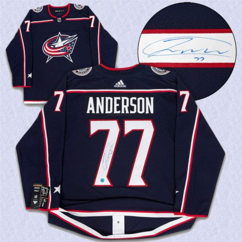Josh Anderson Columbus Blue Jackets Autographed Adidas Home Jersey