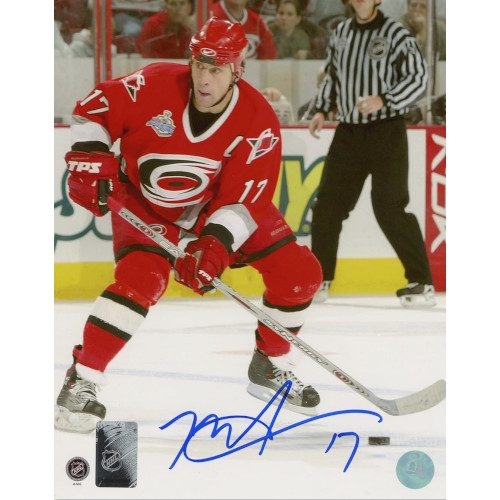 Rod Brind'Amour Carolina Hurricanes Autographed Cup Finals Action 8x10 Photo