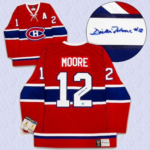 Dickie Moore Montreal Canadians Autographed Fanatics Vintage Hockey Jersey