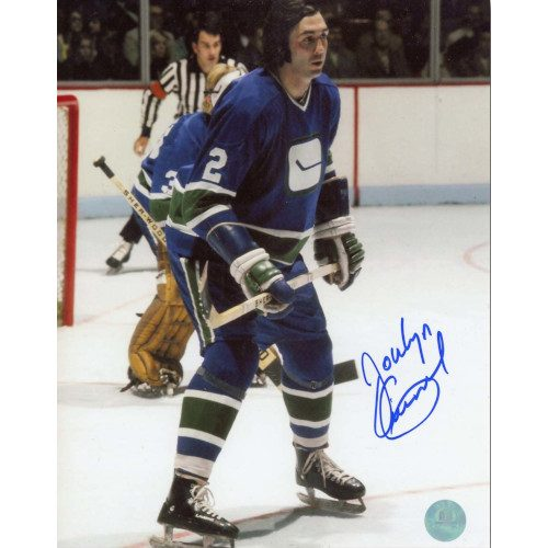 Jocelyn Guevremont Vancouver Canucks Autographed Action 8x10 Photo