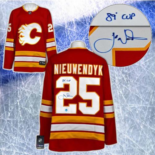 Joe Nieuwendyk Calgary Flames Autographed Fanatics Alternate Hockey Jersey