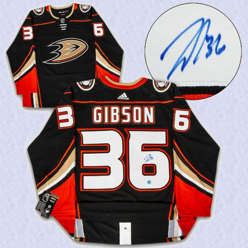 John Gibson Anaheim Ducks Autographed Adidas Authentic Hockey Jersey