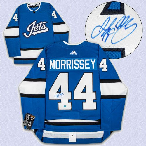 Josh Morrissey Winnipeg Jets Autographed Aviator Adidas Authentic Hockey Jersey