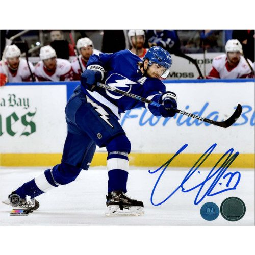 Victor Hedman Tampa Bay Lightning Autographed Slapshot 8x10 Photo