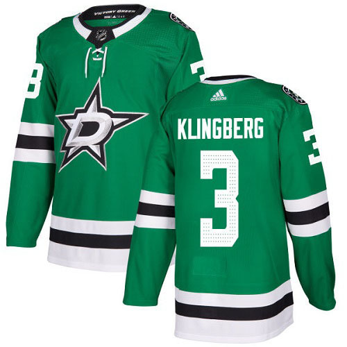 John Klingberg Dallas Stars Adidas Authentic Home NHL Hockey Jersey