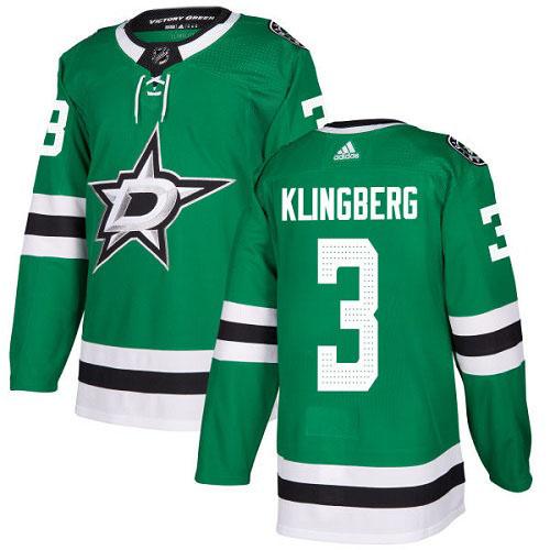 John Klingberg Dallas Stars Adidas Authentic Home NHL Hockey Jersey