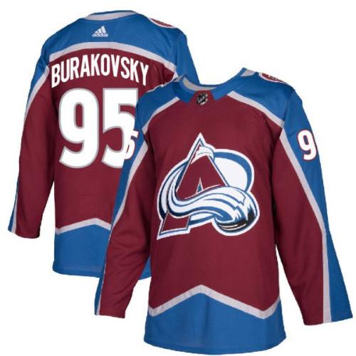 Andre Burakovsky Colorado Avalanche Adidas Authentic Home NHL Hockey Jersey